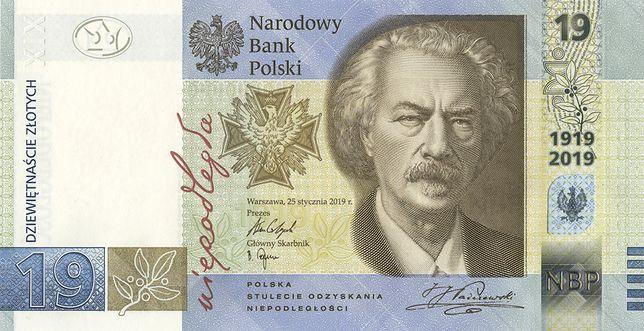 NBP wprowadza banknot o nominale 19 zł.