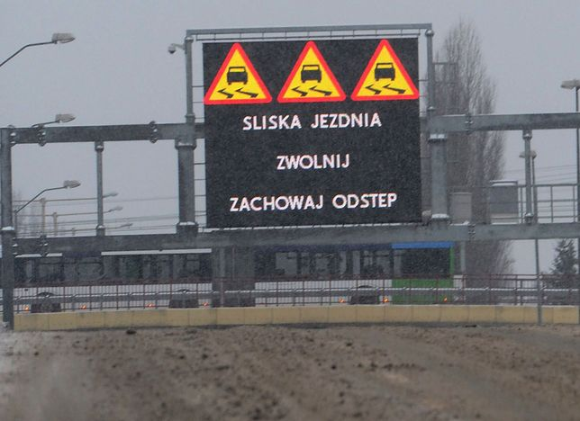 Alert pogodowy na Mazowszu. Ślisko na jezdniach i chodnikach