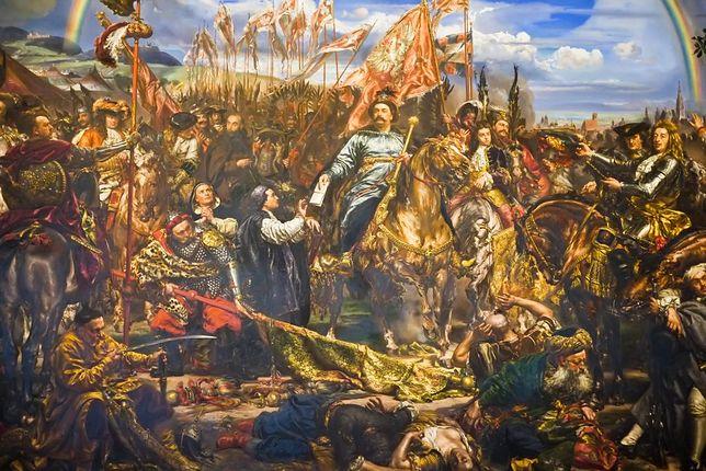 """Obraz Jana Matejki """"Jan III Sobieski wysyła wiadomość o zwycięstwie papieżowi Innocentemu XI""""."""