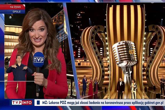 Kinga Kwiecień zaliczyła wpadkę podczas relacji z festiwalu w Opolu