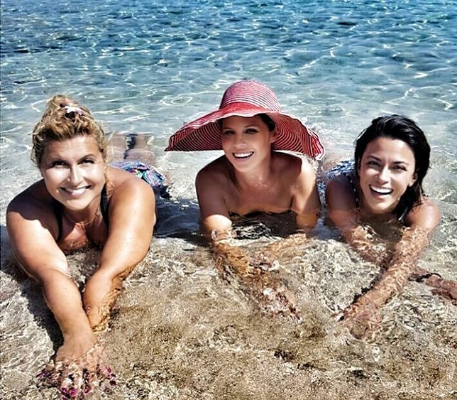 Z koleżankami na plaży