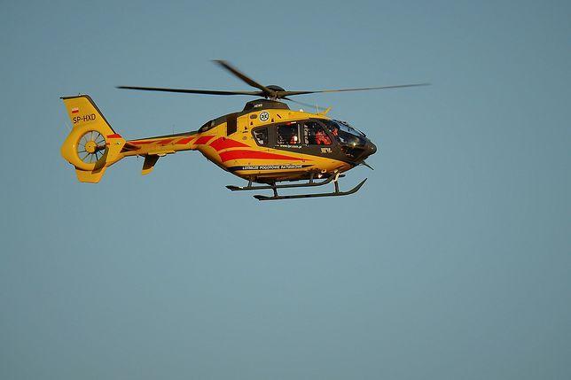 Rybnik. Dziecko potrącone przez śmieciarkę przetransportowano helikopterem do szpitala