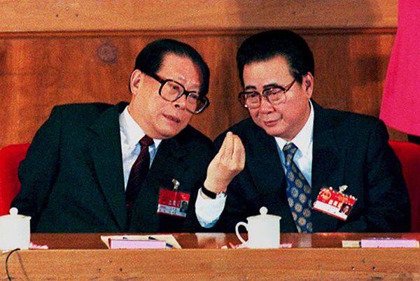 Jiang Zemin i Li Peng w 1995 roku