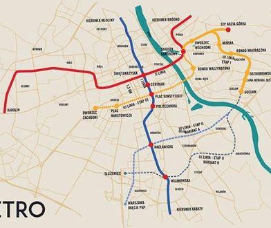 Warszawa. Radni za metrem. Będą środki na start budowy trzeciej linii