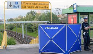 Miejsce ataku nożownika w Poznaniu, przy Al. Solidarności