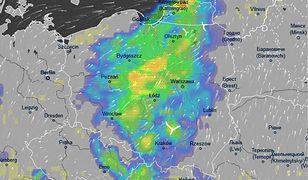 W nocy strefa burz dotrze nad środkową część Polski