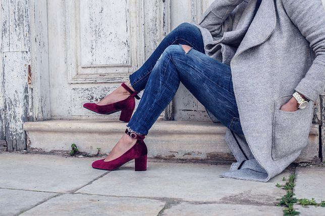 Buty na grubym słupku mogą z powodzeniem zastąpić szpilki