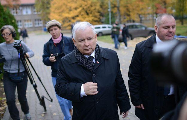 Jarosław Kaczyński po głosowaniu 25 października