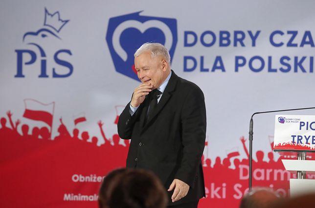Jarosław Kaczyński na konwencji okręgowej PiS w Elblągu