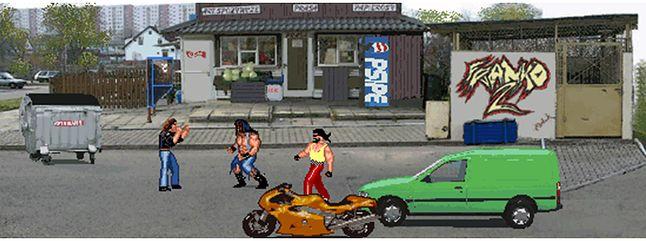 Jedna z grafik koncepcyjnych wersji na GBA