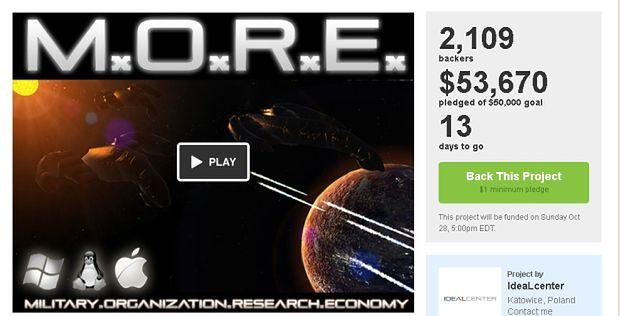 M.O.R.E.: pierwsza polska zbiórka na Kickstarterze okazała się sukcesem
