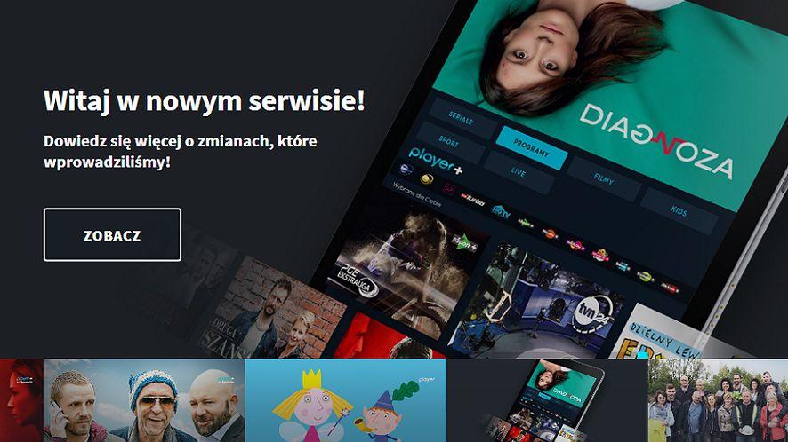 Player.pl z nowym wyglądem, rekomendacjami i kanałami z nc+