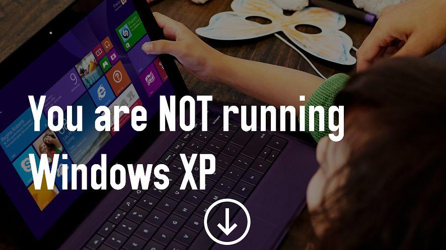 Microsoft i walka o śmierć Windows XP: aplikacja do migracji, powiadomienie