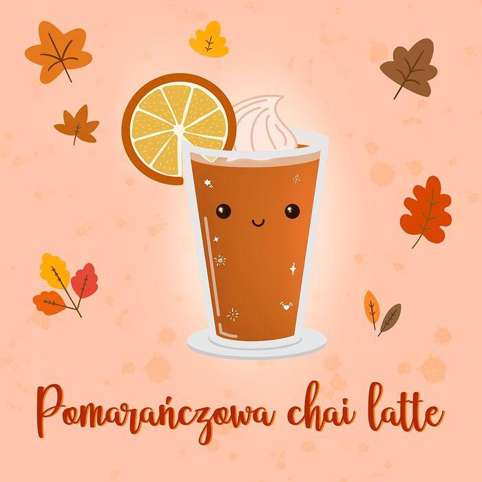 pomarańczowa chai latte