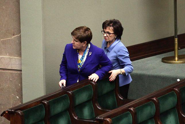 Szydło i Witek podczas debaty w Sejmie