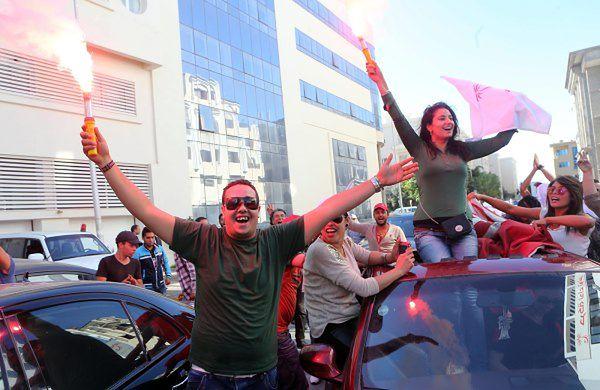 Zwolennicy partii Wezwanie Tunezji cieszą się z wyniku wyborów
