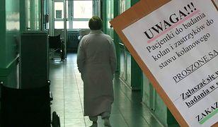 Ogłoszenie zawisło w szpitalu w Częstochowie