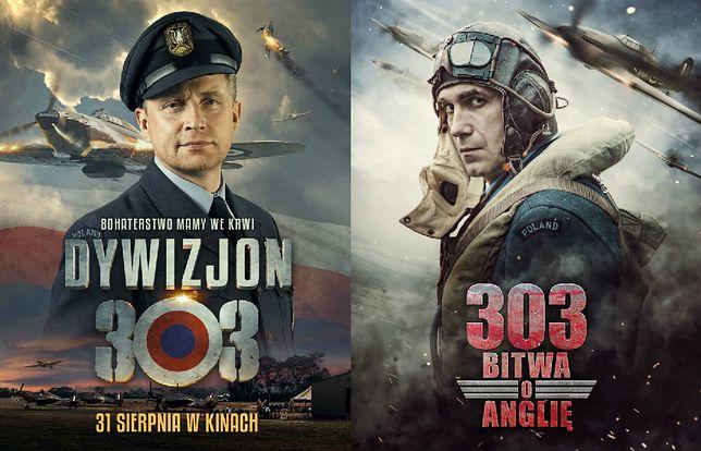 """Plakaty filmów """"Dywizjon 303. Historia prawdziwa"""" i """"303. Bitwa o Anglię"""""""