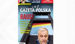 """Grzegorz Schetyna i gilotyna na okładce """"Gazety Polskiej"""""""