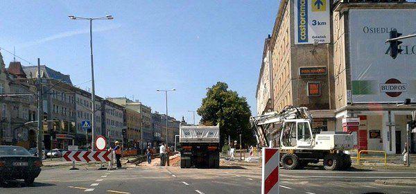 Remont ul. Grunwaldzkiej w Gdańsku będzie krótszy
