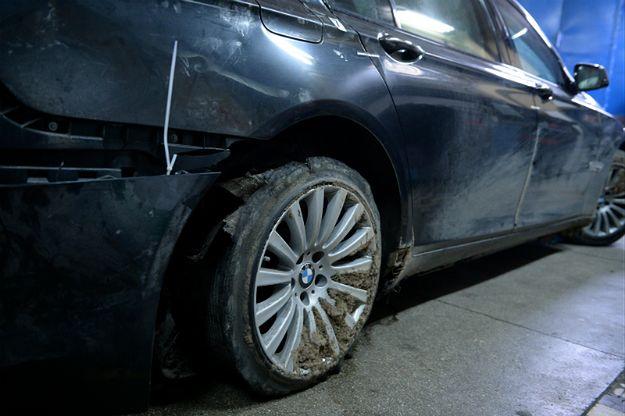 Prezydencka limuzyna po wypadku