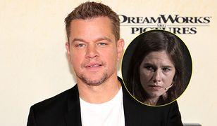 Matt Damon żeruje na tragedii Amandy Knox?