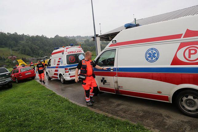 Tragiczne skutki burzy w Tatrach. Konferencja w szpitalu w Zakopanem