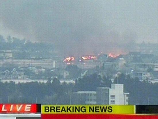 Pożar elektrowni zagraża ludziom?
