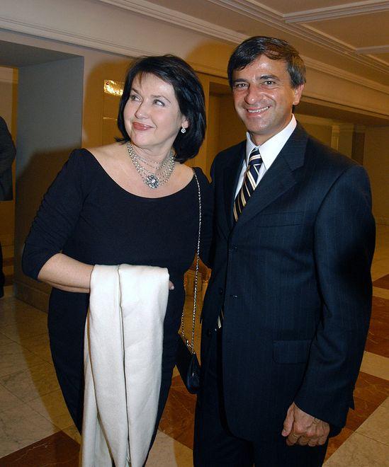 Elżbieta Jaworowicz z trzecim mężem