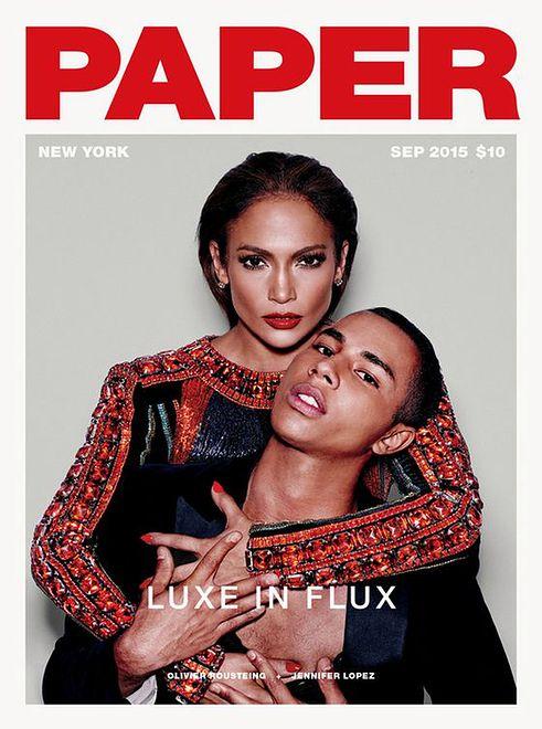"""Jennifer Lopez i Olivier Rousteing w sesji dla """"Paper Magazine"""""""