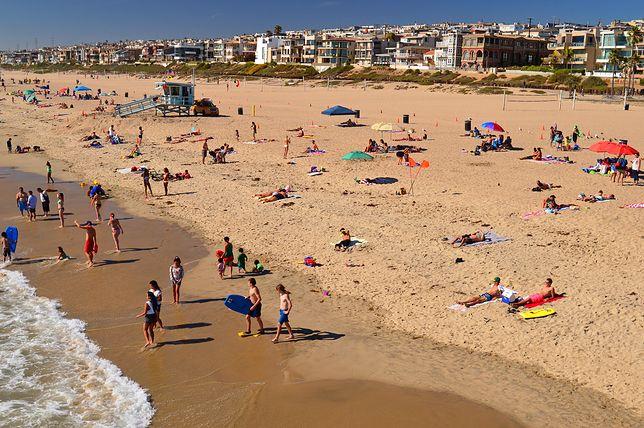 Tłumy na kalifornijskich plażach. Mieszkańcy nie przejmują się koronawirusem