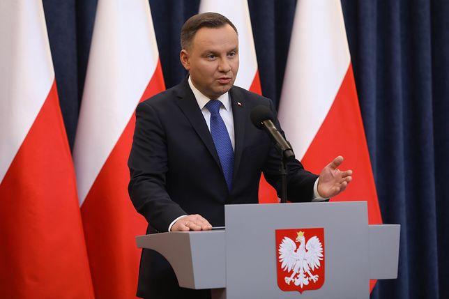 Andrzej Duda podkreślał, że Polska nie zaakceptuje przypisywania odpowiedzialności za Holocaust