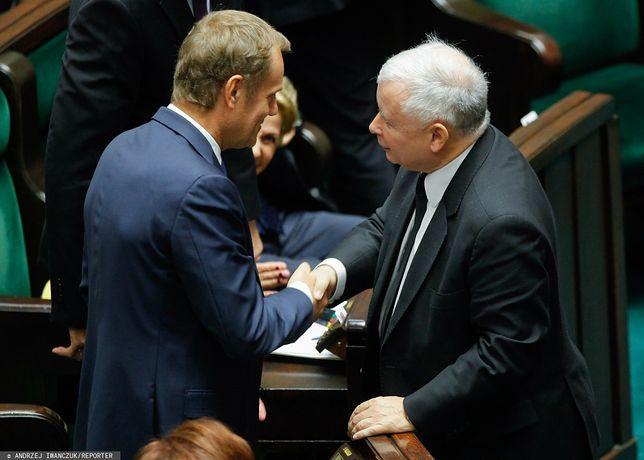 Donald Tusk oraz Jarosław Kaczyński w Sejmie (zdj. arch.)