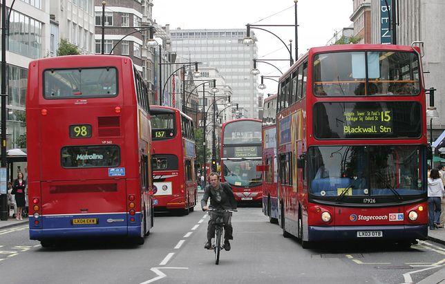 Widok jednej z londyńskich ulic.