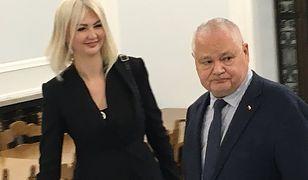 Prezes NBP Adam Glapiński z Martyną Wojciechowską u boku.