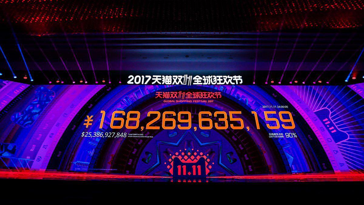 Alibaba bije kolejny rekord. 25 mld dolarów sprzedaży w ciągu doby