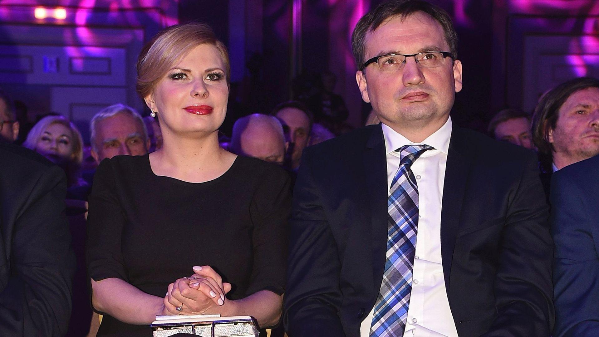 """Patrycja Kotecka-Ziobro i Zbigniew Ziobro na gali tygodnika """"W Sieci"""""""