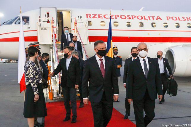 Andrzej Duda z wizytą w Rumunii. Weźmie udział w szczycie Bukareszteńskiej Dziewiątki