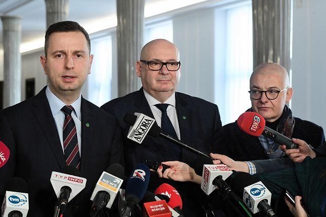 Władysław Kosiniak-Kamysz, Piotr Zgorzelski i Michał Kamiński
