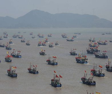 Chińskie kutry rybackie