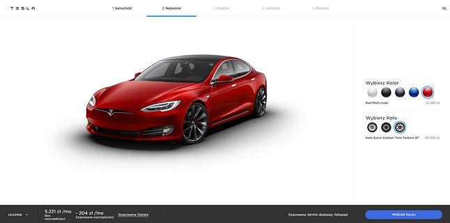 Tesla ma już oficjalny polski konfigurator, fot. Oskar Ziomek.