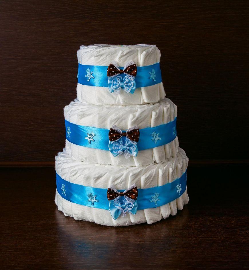 Tort z pampersów może mieć dowolny kształt i wielkość