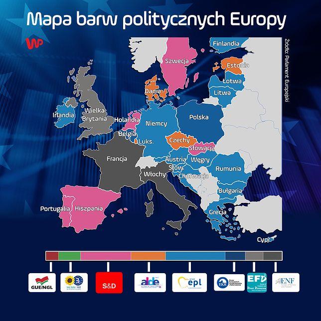 Parlament Europejski się zmieni. Rozkład głosów oddaje mapa barw politycznych