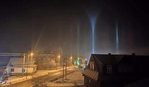 Tajemnicze zjawisko na Podhalu. Niebo przecięły słupy światła