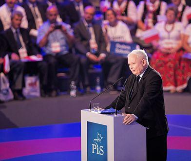Jarosław Kaczyński podczas konwencji Prawa i Sprawiedliwości w Lublinie.