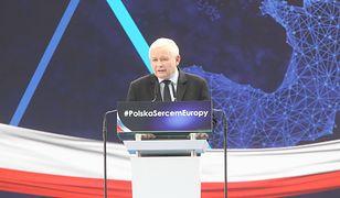 Jarosław Kaczyński podczas śląskiej konwencji PiS, 16 marca 2019 r.