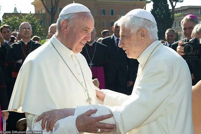Papież Franciszek odwiedził Benedykta XVI. Przybył z wielkanocnymi życzeniami