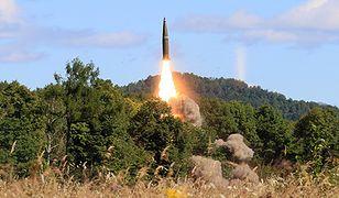 Test rakiety balistycznej Iskander-M.