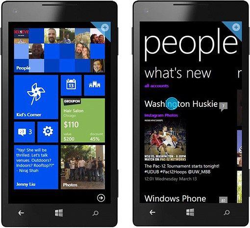 Windows Phone 8. Dalej Metro, ale inne, niż na pulpicie.