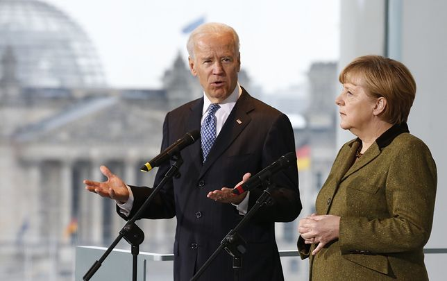Angela Merkel i Joe Biden podczas spotkania w Berlinie w 2013 roku